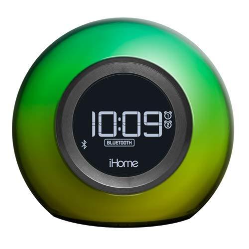 iHome Radiowecker mit Bluetooth un Farbwechsel-Funktion, Multicolor, 13,4 cm x 15,3 cm