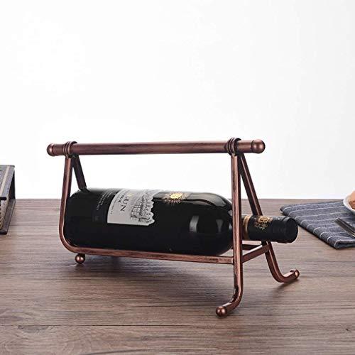 HJXSXHZ366 Estantería de Vino Vino bastidores de Hierro de Metal/bastidores de Vino encimera de visualización oficios/Vino del Estante del Soporte/Estante del Vino revés Estante de Vino pequeño
