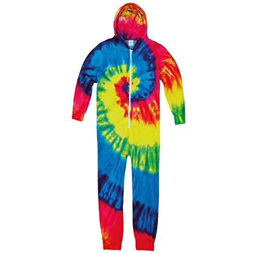 Colortone Kinder Rainbow Tie-Die TD36B - Baggy-Anzug mit Reißverschluss vorne - Regenbogen (XS)