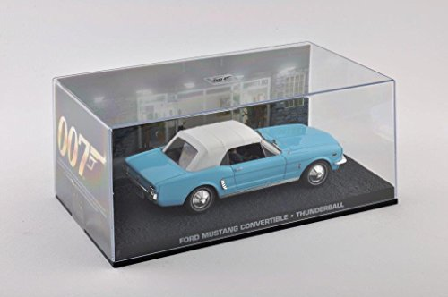 Metal Modellauto 1:43 Diorama Ford Mustang Convertible blau James Bond 007 Thunderball