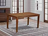 Capri Rectangular dining table 36'x60' with solid wood top - Mahogany Finish