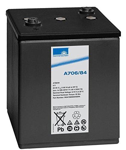 Exide Sonnenschein A706/84 6V 84Ah (C10) dryfit Blei Gel-Batterie / Blei Akku VRLA