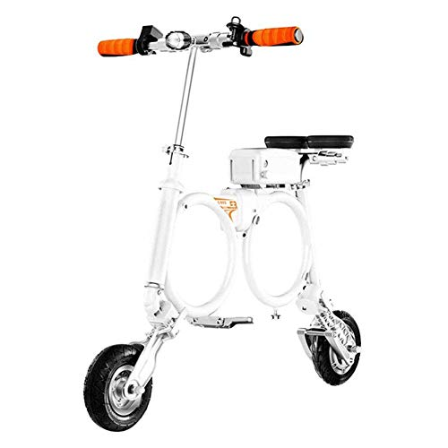 YLJYJ Folding Electric Bike,Lightweight and Aluminum Folding Bike with Pedals Scooter Small Battery Car Portable Folding Travel Battery Car(Exercise Bikes)