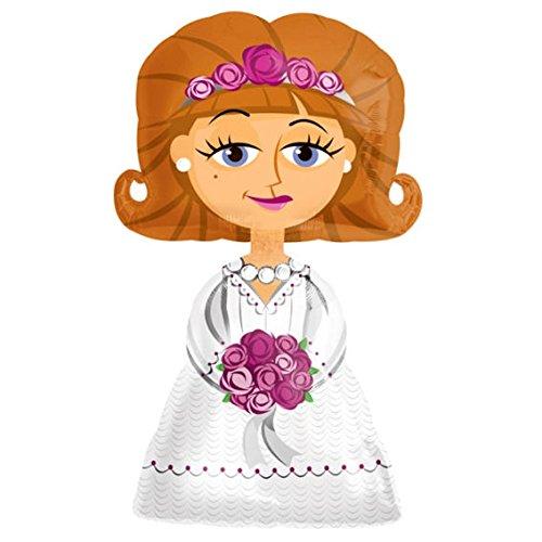 Amscan Ballon gonflable Airwalker en forme de mariée 127 cm