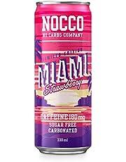 NOCCO BCAA | Zero Sugar Functionele energiedrank | No Carbs Company | Vitamine Enhanced met 180mg Cafeïne | Gearomatiseerde functionele dranken voor gezondheid, fitness en dagelijks