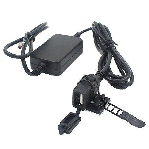 E Support™ USB Steckdose mit Sicherung USB Einbaubuchse Zubehör für Motorrad/Fahrrad