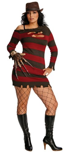 Plus Size Sexy Miss Freddy Krueger Costume (9556-struts) (disfraz ...