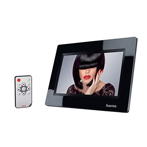 Hama 95267 Digitaler Bilderrahmen Basic 7 Zoll, 16:9, 800 x 480, SD, SD HC, USB, Fernbedienung, schwarz