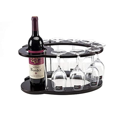 DAKEUR Wine Rack Organizador de Almacenamiento de Estante de Vino Independiente para encimeras de Cocina, Estante de Vino de encimera, Soporte de Madera para Vino de Mesa, decoración