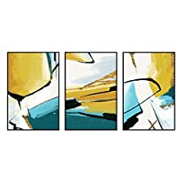 HTLLT モダンな抽象芸術デコ絵画アート油絵壁画リビングルームダイニングルームベッドルーム装飾(3セット),B,50 * 70Cm