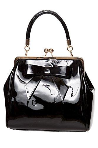 Banned Apparel American Vintage 50s Rockabilly glänzend handtasche - Schwarz