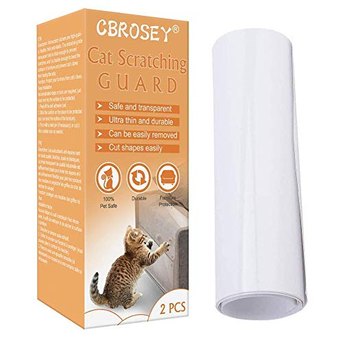 CBROSEY Cat Anti Scratch,Cat Furniture Protector,Anti Scratch Cat Training Tape,Anti-Scratch Cat Scratching Deterrent Tape,Guards for Carpet, Sofa, Couch