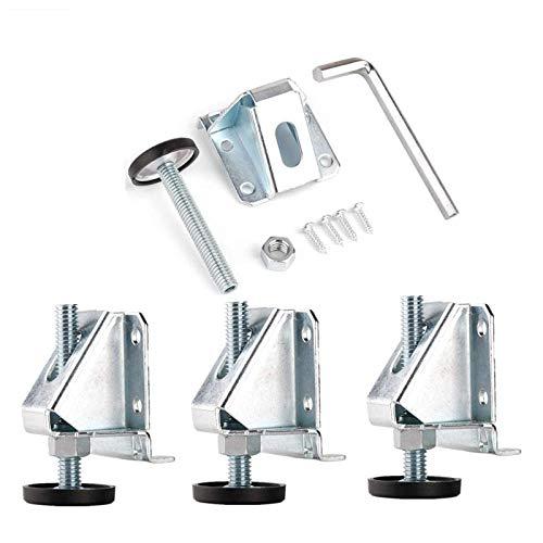 Linksworld Nivellierfüße, verstellbar, strapazierfähig, Möbelfüße, Nivellierfüße mit Sicherungsmuttern, ideal für Tische, Regale, Ladenschränke und Möbel, 4 Sets