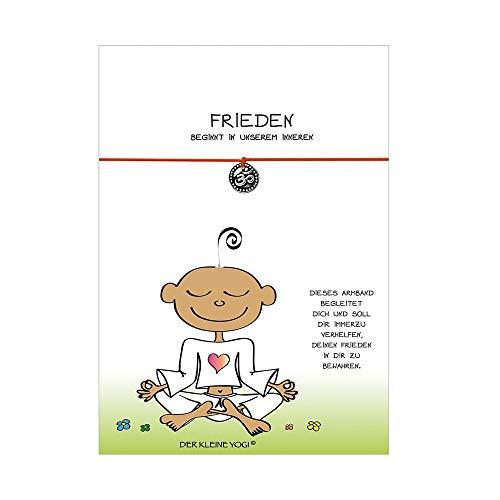 Der kleine Yogi Wunscharmband - OM - Frieden - Orange