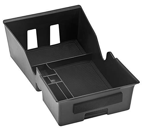 TLECTRIC Caja de almacenamiento para consola central de Tesla Model 3 hasta año de fabricación 09/2020, color negro