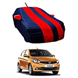 Oshotto Tafetta Car Body Cover with Mirror and Antenna Pocket Compatible with Tata Tiago (Red, Blue)