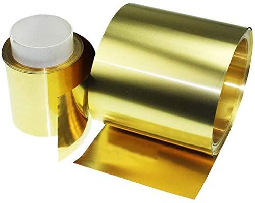 1 pieza nueva hoja de latón de metal fino aluminio de la correa de metal suministros 0.02x100x1000mm con resistencia a la corrosión