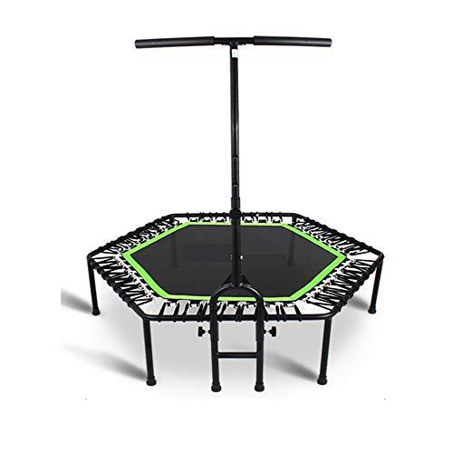 N / A Trampolín Plegable de 48', Mini trampolín, reboteador de Fitness con Mango de Espuma Ajustable, para niños Adultos, Entrenamiento en Interiores/jardín