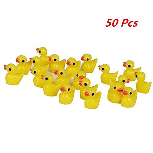 "Miniature Dollhouse FAIRY GARDEN ~ Tiny CHRISTMAS Toys 2 Yellow /""Rubber/"" Ducks"
