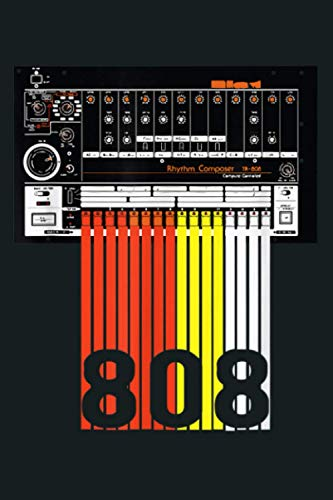 808 Drum Machine Music Beats: Notebook Planner -6x9 inch Daily Planner Journal, To Do List Notebook, Daily Organizer, 114 Pages