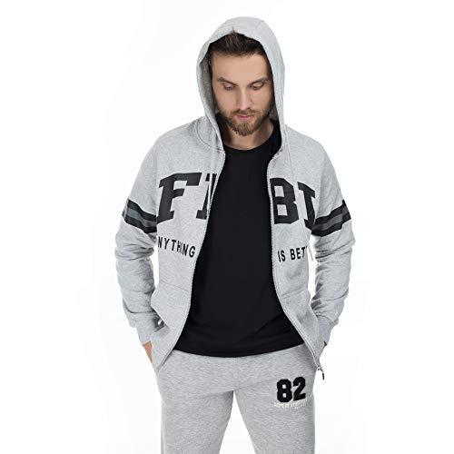 FBI Printed Sweatshirt Men's SWEAT 54919281 / GRAY/XXL