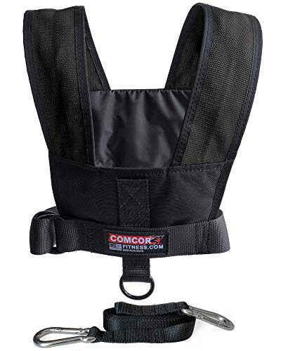 ComCor Max Sled Harness Vest - Made in USA (Black Adult to 50