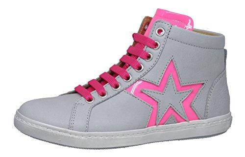 Zecchino d'Oro Zecchino d'Oro F12-4222 Mädchen Sneaker mit Stern (33 EU, Grau-Pink (3126 Grey-pink))