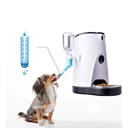 XHCP Automatic Pet Feeder and Drinking Fountain,Intelligent Control Video Surveillance Camera Voice Talk Automatic Feeding Cat & Dog Timerpet Feeder Food Dispenser (4 L)