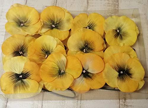 Generisch Stiefmütterchen-Blüte 12stck. gelb 9x28cm künstlich