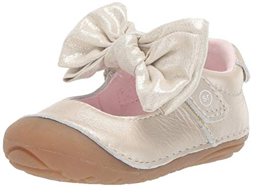 Stride Rite Girls' Soft Motion Esme Mary Jane Flat, Champagne, 3 M US Infant