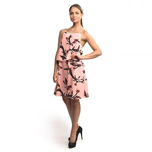 Samsoe & Samsoe Petra AOP Damen Kleid 3903 Glaieul Rose M