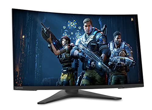 "Lenovo G27c-10 - Monitor Gaming Curvo 27"" FullHD (VA, 165Hz, 1ms, HDMI, DP, FreeSync, Base Metálica) Ajuste de inclinación/altura - Negro"