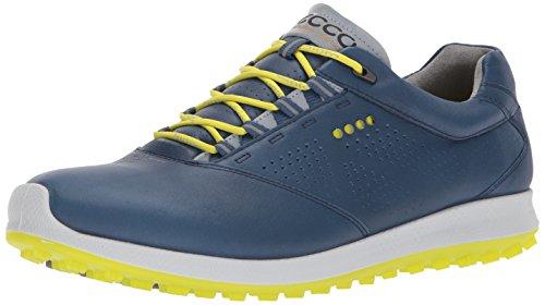 Ecco Men's Golf Biom Hybrid 2, Zapatos Hombre, Azul (Denim Blue/Sulphur), 48 EU
