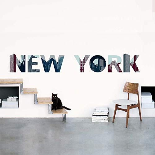 Draeger Paris - Sticker Mural New York, Lettres Gratte-ciels