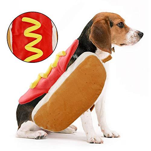 CARDMOE Cani, Hot Dog Vestiti alla Moda Hotdog Shape Pet Costume
