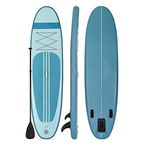 MROSW Tabla de surf inflable de pie para tabla de surf con tabla de surf para kayak, surf, 305 x 76 x 15 cm, con mochila, correa, bomba