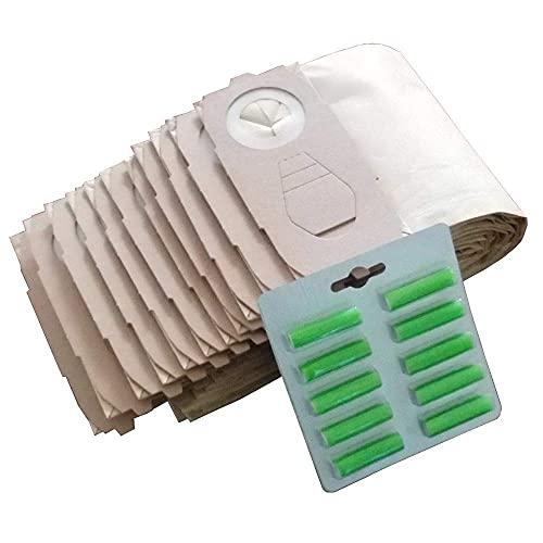 Bolsas para aspiradoras portátiles Cleanfairy 20 Piezas Bolsas para aspiradoras compatibles con VK118 119, 120, 121, 122, duraderas