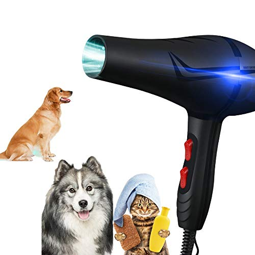 YLXD Profi Hundefön Hundetrockner Katzen und Hunde,Low Noise Hundepflege Haartrockner,Einstellbare...