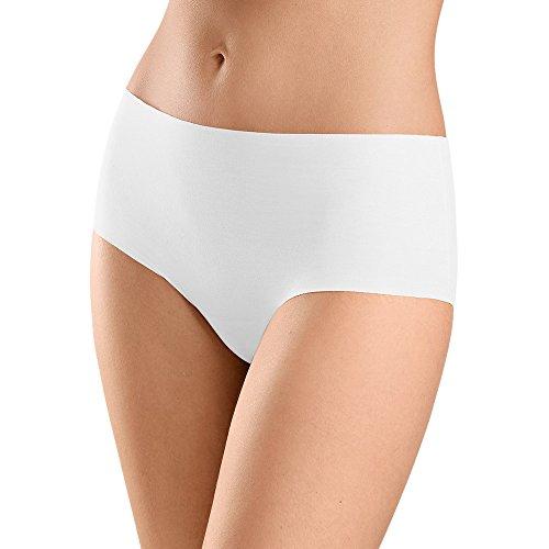 Hanro Damen Invisible Cotton Maxi Slip Taillenslip, Weiß (White 0101), 46/48 (Herstellergröße: L)