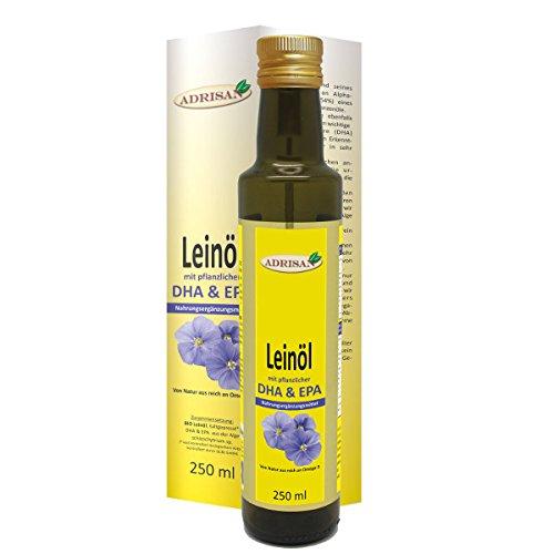 Adrisan Leinöl mit DHA und EPA 250ml - Nahrungsergänzung