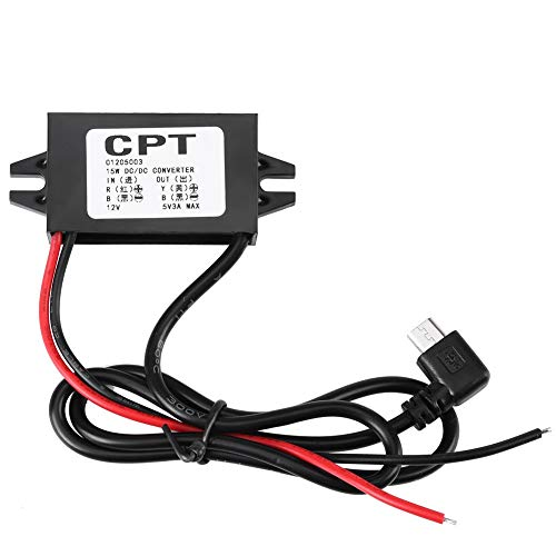 Micro USB DC-DC 12V a 5V 3A convertidor regulador de voltaje para convertidores de voltaje de coche