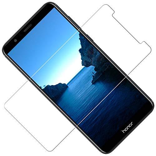 Vkaiy [2 Stück Panzerglas Schutzfolie kompatibel mit Huawei Honor 7X, 9H Härte, Anti-Kratzen, Anti-Öl, Anti-Bläschen Displayschutzfolie für Huawei Honor 7X - 5
