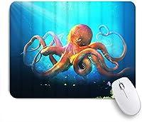 VAMIX マウスパッド 個性的 おしゃれ 柔軟 かわいい ゴム製裏面 ゲーミングマウスパッド PC ノートパソコン オフィス用 デスクマット 滑り止め 耐久性が良い おもしろいパターン (タコクラーケン)