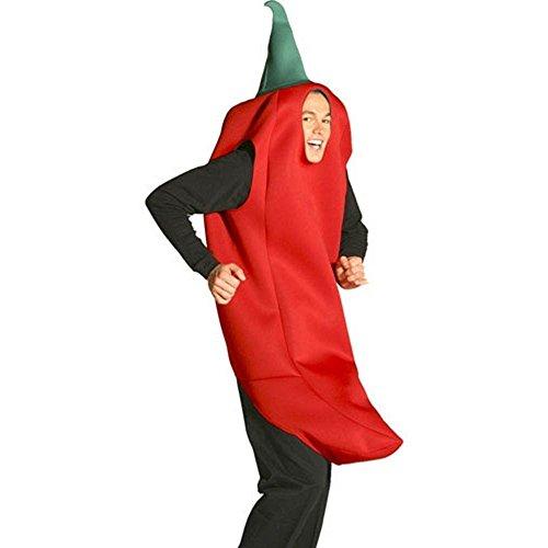 Rasta Imposta Chili Pepper Costume, Red, One Size