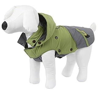 sportlicher, robuster Hundemantel für nasskalte Herbst- und Wintertage abnehmbare Fleeceeinlage für zusätzliche Wärme bei frostigen Temperaturen wind- und wasserabweisend mit verstaubarer Kapuze Halsumfang und Bauchlatz stufenlos verstellbar