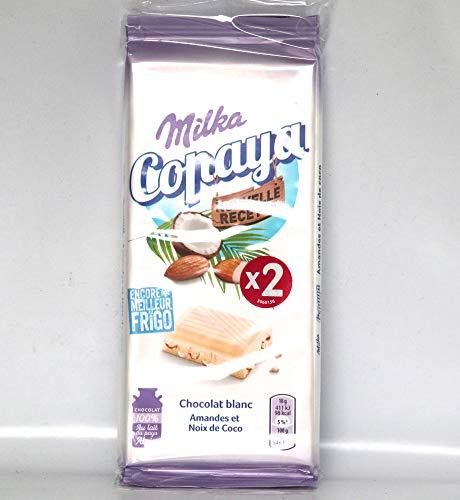 Milka Copaya 2-er Set Weiße Schokolade mit Mandeln und Kokosnuss 2x90g.