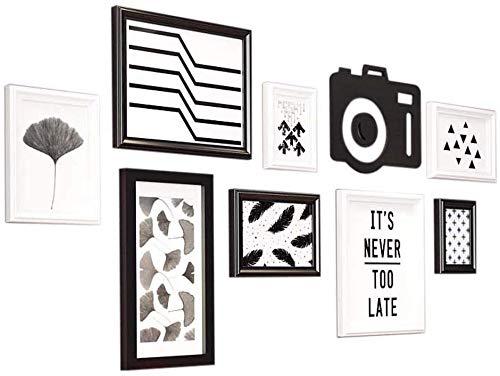Set van 8 fotolijsten met meerdere foto's, set fotolijsten met 8 lijsten, wanden met grote lijst voor foto's, plafonds, 119 cm x 61 cm, beste wanddecoratie, eenvoudige fotolijst