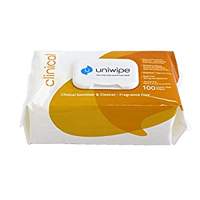 Uniwipe W138Y Clinical Sanitising Wipes - Pack 100 by