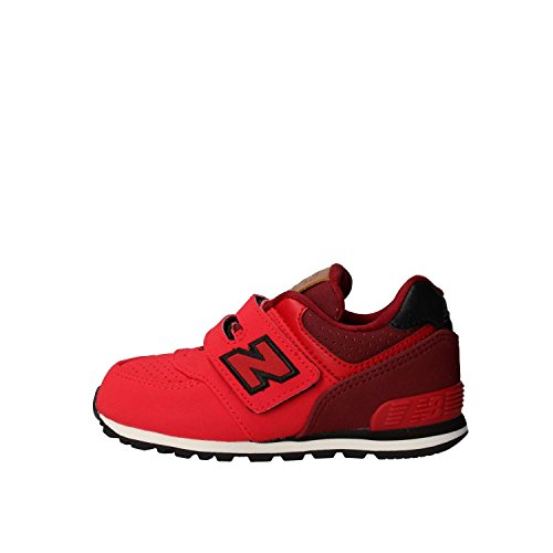 New Balance New Balance, Unisex-Kinder Sneaker, Rot (Red/black), 23.5 EU (6.5 UK Child)