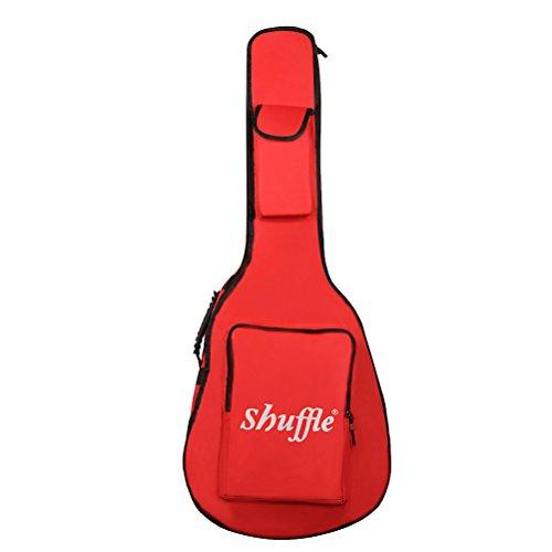 Mochila de guitarra de tecido Oxford à prova d'água LIOOBO 104,14 cm, Vermelho, 106x42.5x13.5cm